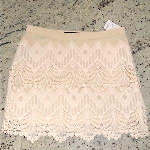 Lacey Cream Mini Skirt 👠